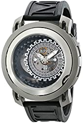 Ritmo Mundo Men's 202/3 TIT Orange Black Persepolis Dual-Time Exhibition Automatic Watch