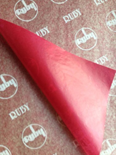 25 X A5 CARBON PAPER RED - 25 SHEETS Ruby