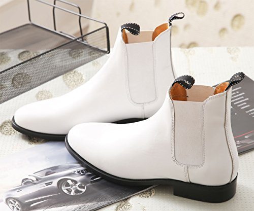 GRB Men's Stormtrooper Ankle Boots Deluxe Star Wars Stormtrooper Costume Cosplay White Trooper Boots for the 501st Legion Costume Cosplay Celebration The Force Awakens (8.5-9 US) - 501 Legion Costumes