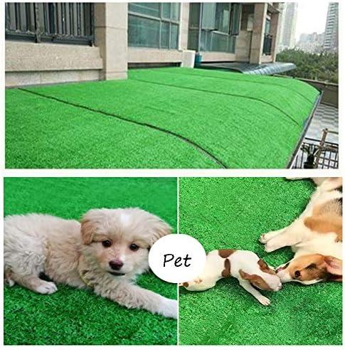 XEWNEG 10mmグリーン人工芝、防水、非退色、カット可能、ペットカーペット偽の芝生マット、屋内および屋外の装飾に適しています、幅2m (Size : 2x15M)