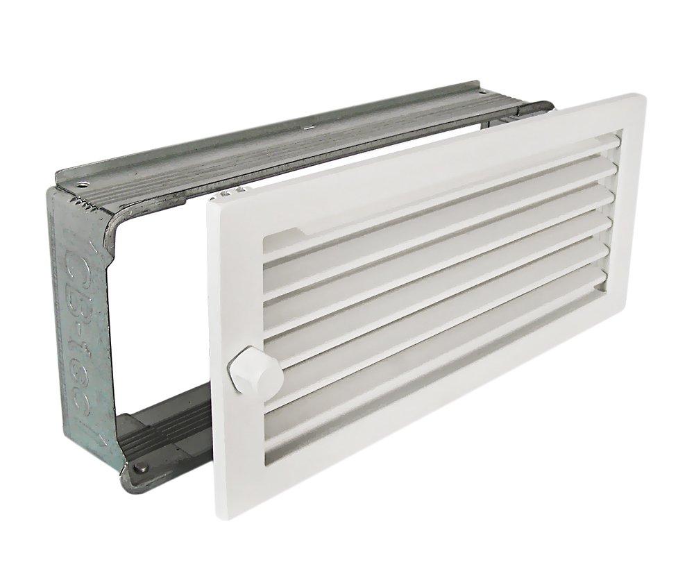 Caldo nell'aria incarcerare WG 3515 W bianco 350 x 150 mm con cornice CB-Tec
