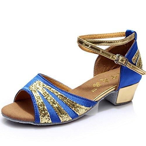 Bas Chaussures Doux Sandales Samba Byle Onecolor Talon Jazz En Sangle Femmes Latin Modernes Fond Cuir Danse Bleu Cheville De fnqR06q