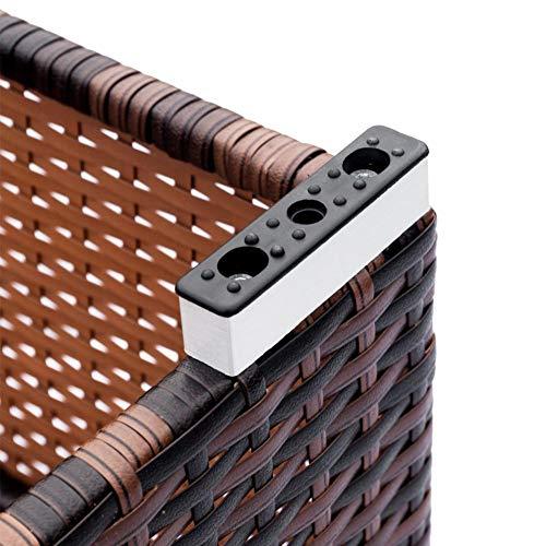 Jannyshop Sofa Set with 2pcs Corner Sofas & 4pcs Single Sofas & 1 pcs Equipped Weaving Rattan Coffee Table Black-Single Sofa by Jannyshop (Image #6)