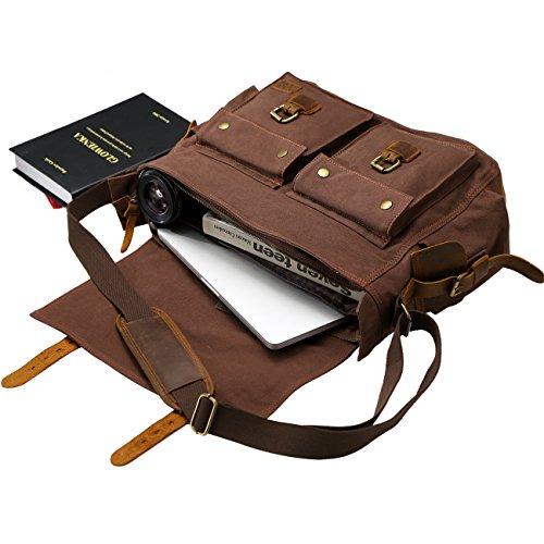 Messenger Bags Wowbox 17 Inch Men's Messenger Bag Vintage ...