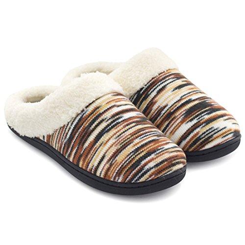 Rockdove Women S Memory Foam Woolen Winter Slippers