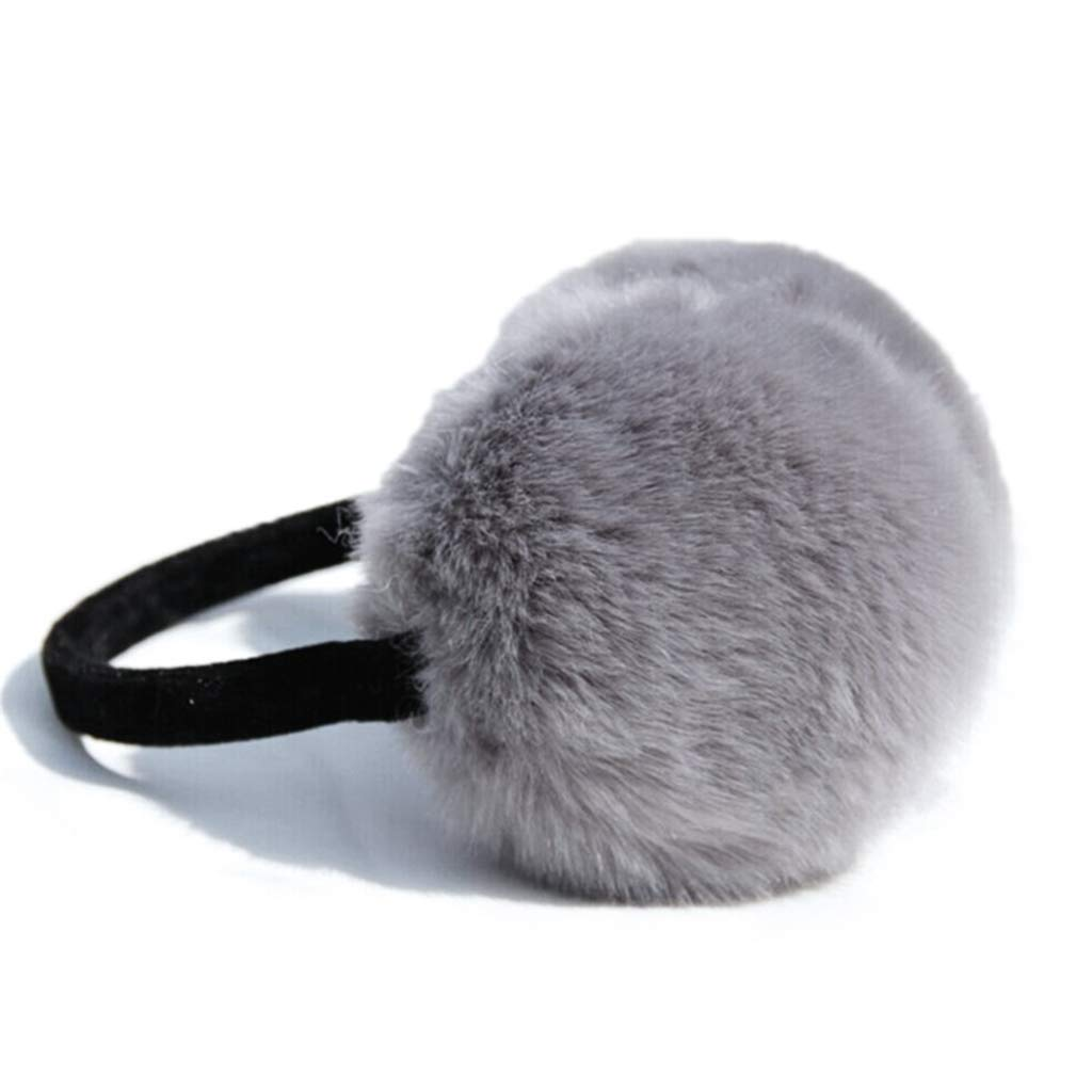 Women Girls Winter Plush Earmuffs Ear Warmers Faux Fur Ear Muffs Covers Home