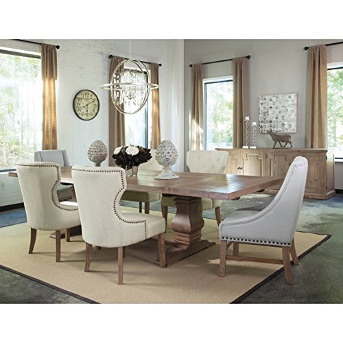 - A Line Furniture Vintage 18th Century French Neoclassic Design Dining Set Beige 1 Table, 8 Beige Chairs