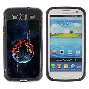 Suave TPU GEL Carcasa Funda Silicona Blando Estuche Caso de protección (para) Samsung Galaxy S3 III I9300 / CECELL Phone case / / Burning Planet /