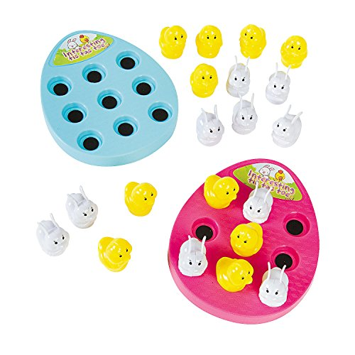Fun Express Easter Egg Tic-Tac-Toe Peg Game Basket Filler