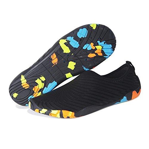 Asciugatura 196 Bagno Surf Rapida Scarpe Antiscivolo Spiaggia Mare Nuoto Nero Snorkeling Uomo Da Yoga Barefoot Per Donna Immersione Acqua qaxw8UzaX