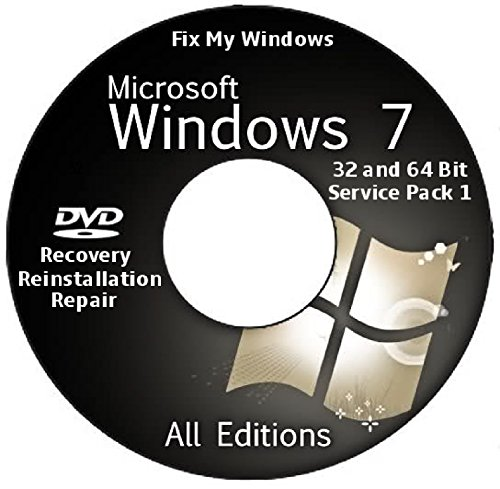 WINDOWS 7 32 & 64 bit 2016 Edition, SP1, All Versions Included Recovery Re Install Repair by Windows 7 Re Install