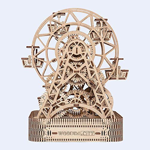 WOODEN.CITY Wooden Mechanical model Ferris Wheel from WOODEN.CITY