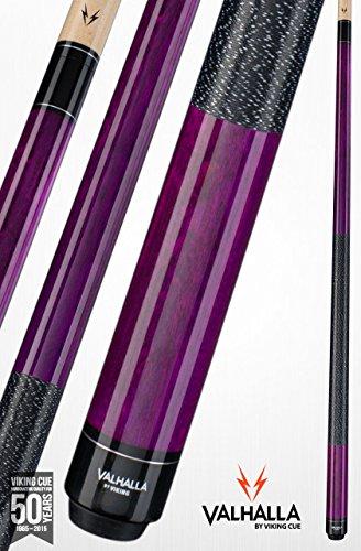 Viking Valhalla 2 Piece Pool Cue Stick with Irish Linen Wrap VA117 (21oz, Purple)