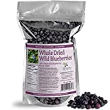 Whole Dried Wild Blueberries, No Added Sugar, No Pesticides, Not Cultivated Berries, Small Woman-Owned Company