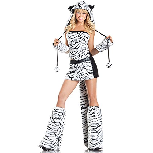 [Be Wicked Tasty Tiger Costume, Black/White, Medium/Large] (White Tiger Costumes)
