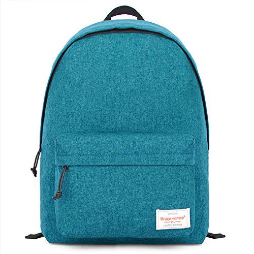 EcoCity Classic Vintage Fashion Travel School Laptop Backpack Daypack Bag (Aquamrine)