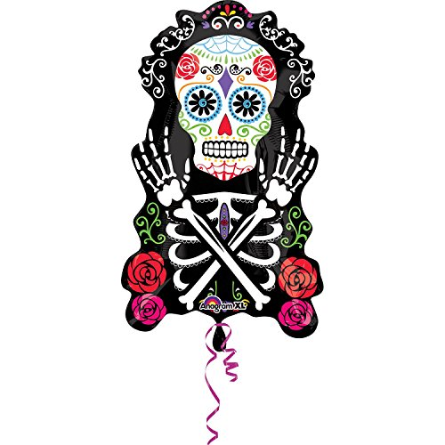 Mayflower BB66575 Day Of The Dead 28 in. Balloon (Day Of The Dead Party Ideas)