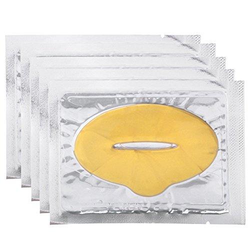 CCbeauty 10 x Gold Crystal Collagen Lip Plumper Facial Face Mask Lip Care