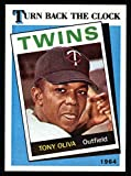 1989 Topps # 665 Turn Back The Clock Tony Oliva Minnesota Twins (Baseball Card) Dean's Cards 8 - NM/MT Twins