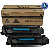 2 Pack V4INK ® Canon 128 Toner Cartridge Non OEM - New Compatible Canon 128 (3500B001AA)/HP CE278A 78A Toner Cartridge-Black
