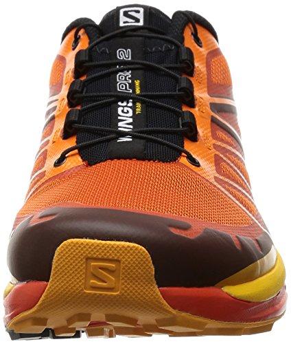 Herren schwarz Salomon Pro 2 Laufschuhe orange Wings Rnwn1d