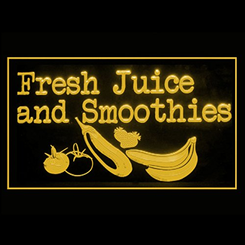 Smoothies Led Sign - 110242 Fresh Juice Smoothies Pineapple Organic Display LED Light Sign