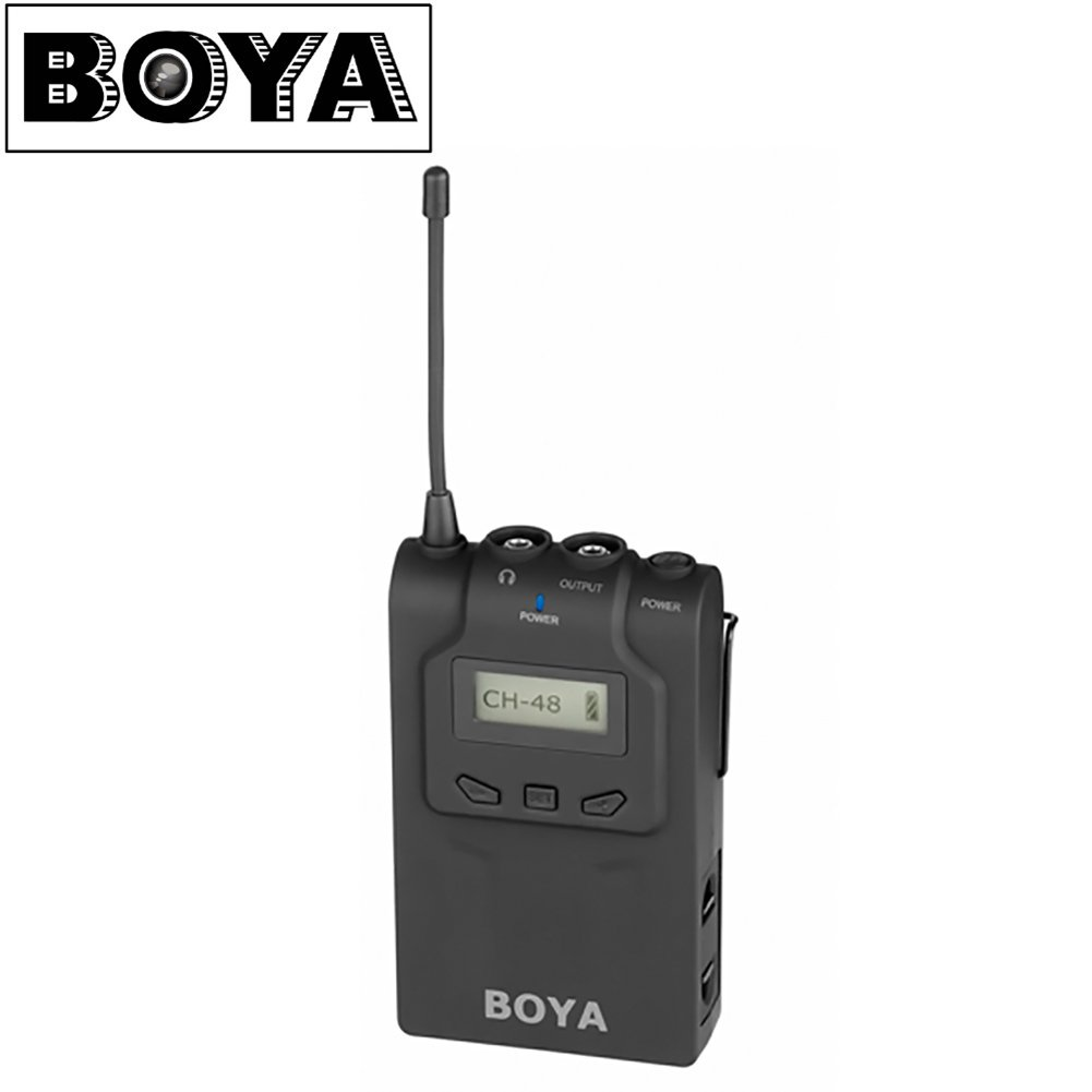 BY-WM6R Wireless Bodypack Receiver for BY-WM6 Lavalier Wireless Microphone System for ENG EFP DSLR Cameras & Camcorders with Separate Package
