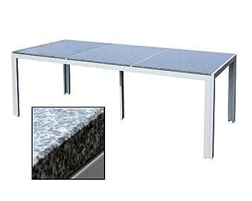 Amazonde Xxl Gartenmöbel Granittisch Alu Granit Tisch Gartenmöbel