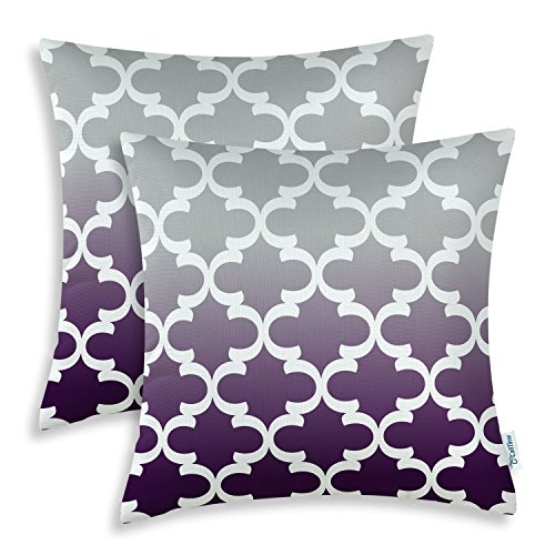 CaliTime Pack of 2 Canvas Throw Pillow Covers Cases for Couc