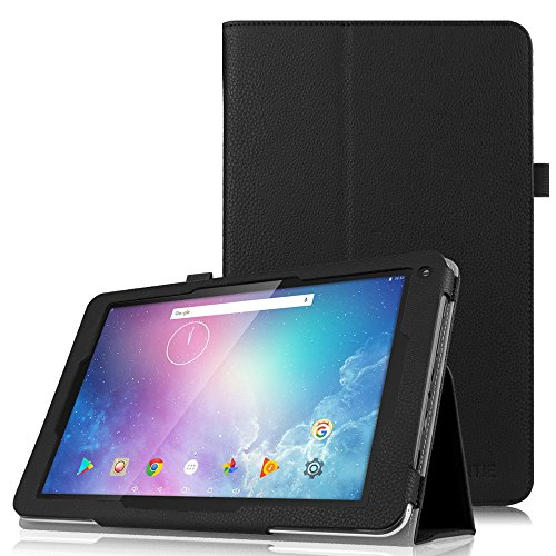 Fintie Dragon Touch V10 Case, Premium Slim Fit PU Leather Folio Stand Cover with Stylus Holder for Dragon Touch V10 10-Inch Android Tablet, Black -  EOAF001US