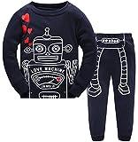 Hugbug Toddler Boys Cute Robot Heart Pajamas  Dark Blue 5