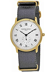 Frederique Constant Slimline Silver Dial Nylon Strap Mens Watch FC235M4S5GRY