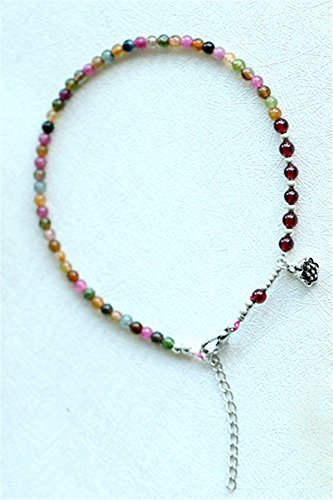 KENHOI Beauty candy-colored tourmaline crystal anklets ladies fashion unique gemstone anklets foot showcase delicate anklets