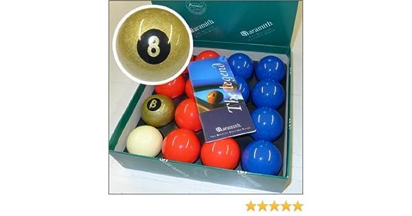Aramith Premier - Bolas de billar (5,08 cm, 8 bolas), color rojo ...