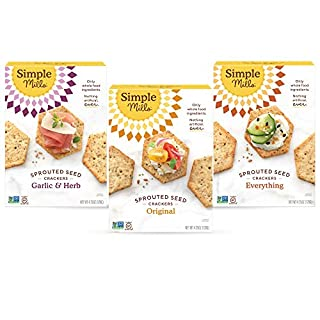 Simple Mills, Snacks Variety Pack, Original, Garlic & Herb, Everything Variety Pack, 3 Count (Packaging May Vary)