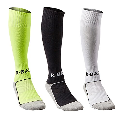 fan products of Compression Athletic Socks Knee High Sports Socks Team Athletic Performance Socks for Kids Boys (3 pack)