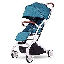 Kids&Koalas Airplane Stroller One Step Design for Opening & Folding, lightweight Baby Stroller ,Portable Travel Pram for Infant Convertible Baby Carriage(Green)