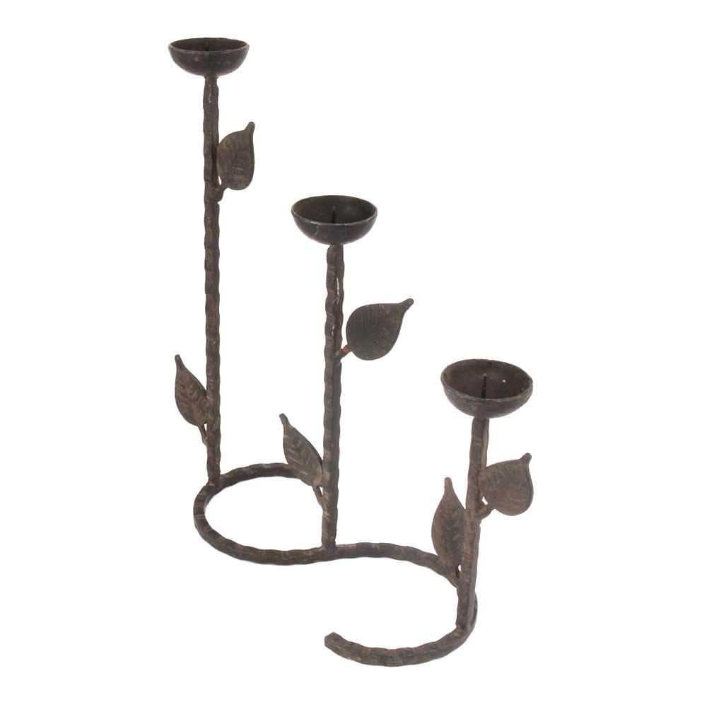 Indian Shelf Handmade Antique Vintage Brass Candle Stand Puja/Home/Christmas/Diwali Décoration-1 Piece