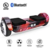 OXA Hoverboard Self Balancing Scooter UL Certified Super Long Range Double Patented Two Model System with Bluetooth Speaker and Headlights
