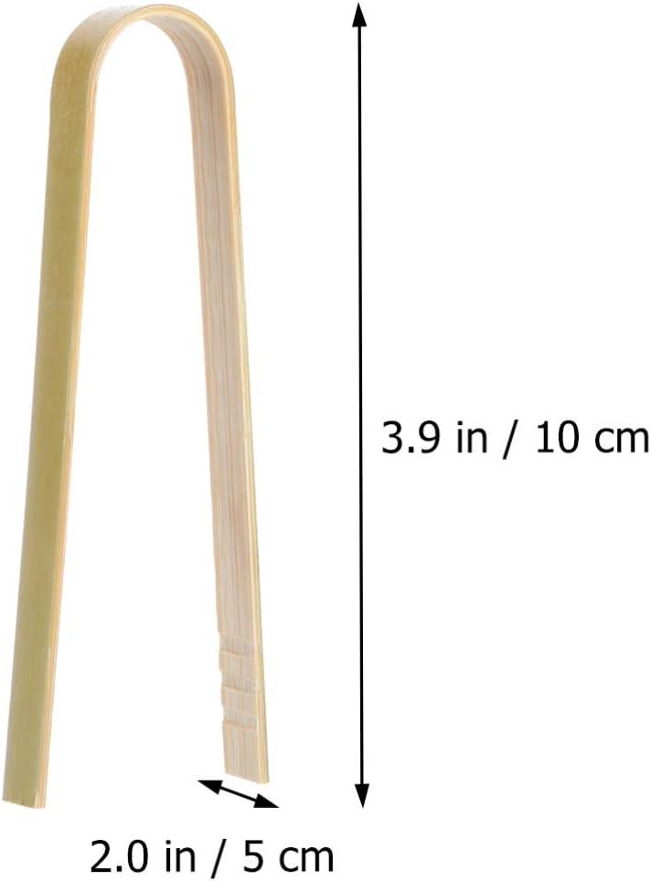 pinze per servire alimenti Set di 16 mini pinze in bamb/ù da cucina in legno zucchero UPKOCH ghiaccio zucchero barbecue buffet insalate barbecue
