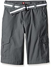 Boys' Belted Ripstop Basic Cargo Shorts