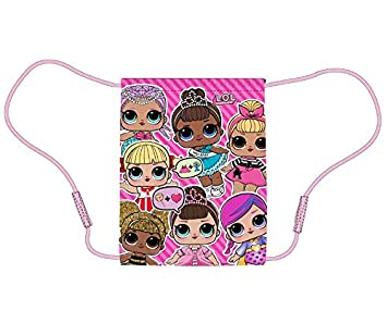 LOL DOLLS Drawstring Bag Can be personalised with a name school girls boys pe A1
