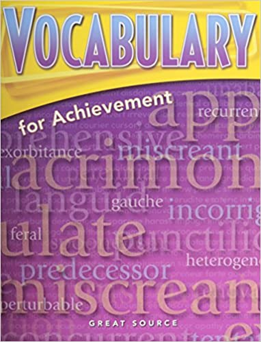 Amazon.com: Vocabulary for Achievement: Student Edition Fourth ...