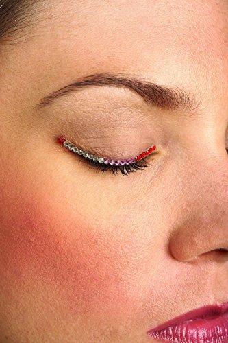 Eyelid Jewels (Rubie's Costume Co Red/Pink/Silver Jewel Eyelids Costume)