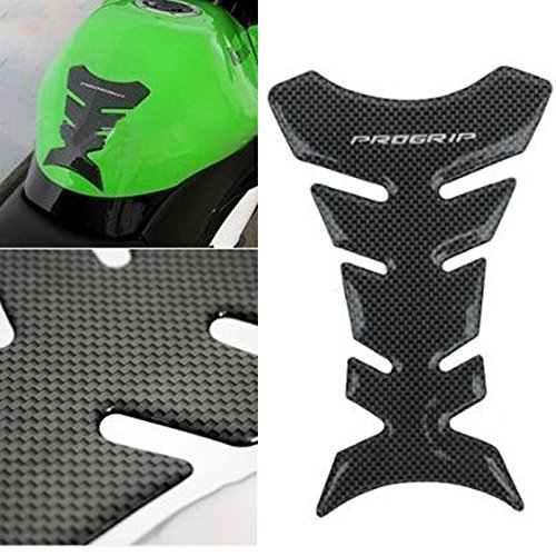 Sedeta® 3D Carbon Fiber Look Motorcycle Sport Tank Gas Protector Pad Sticker Universal Fit Anti scratch decal for Yamaha YZFR1 R1 Suzuki