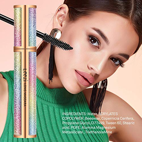 4D Silk Fiber Lash Mascara for Longer Thicker Voluminous EyelashesNatural Waterproof SmudgeProof All