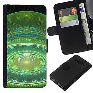 Planetar® Modelo colorido cuero carpeta tirón caso cubierta piel Holster Funda protección Para Samsung Galaxy Core Prime / SM-G360 ( Espacio Bola Planeta rojo del arte Universo Tiempo )