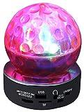QFX CS-242 Multimedia Disco Light Speaker with FM Radio and USB/Micro SD Port (Red)