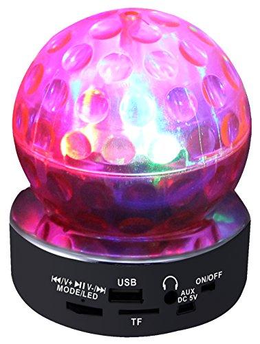 QFX CS-242 Multimedia Disco Light Speaker with FM Radio and