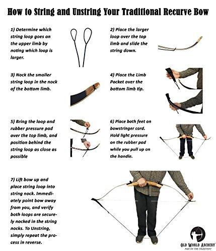 Old World Yeoman Takedown Recurve Bow Traditional Archery Set 54
